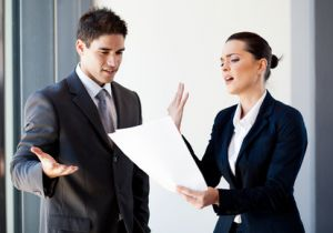 Ineffective Manager Arguing with Employee